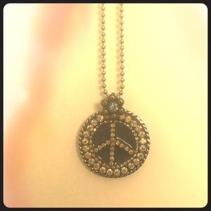 Jewelry - Vintage Peace Sign Necklace (boutique)